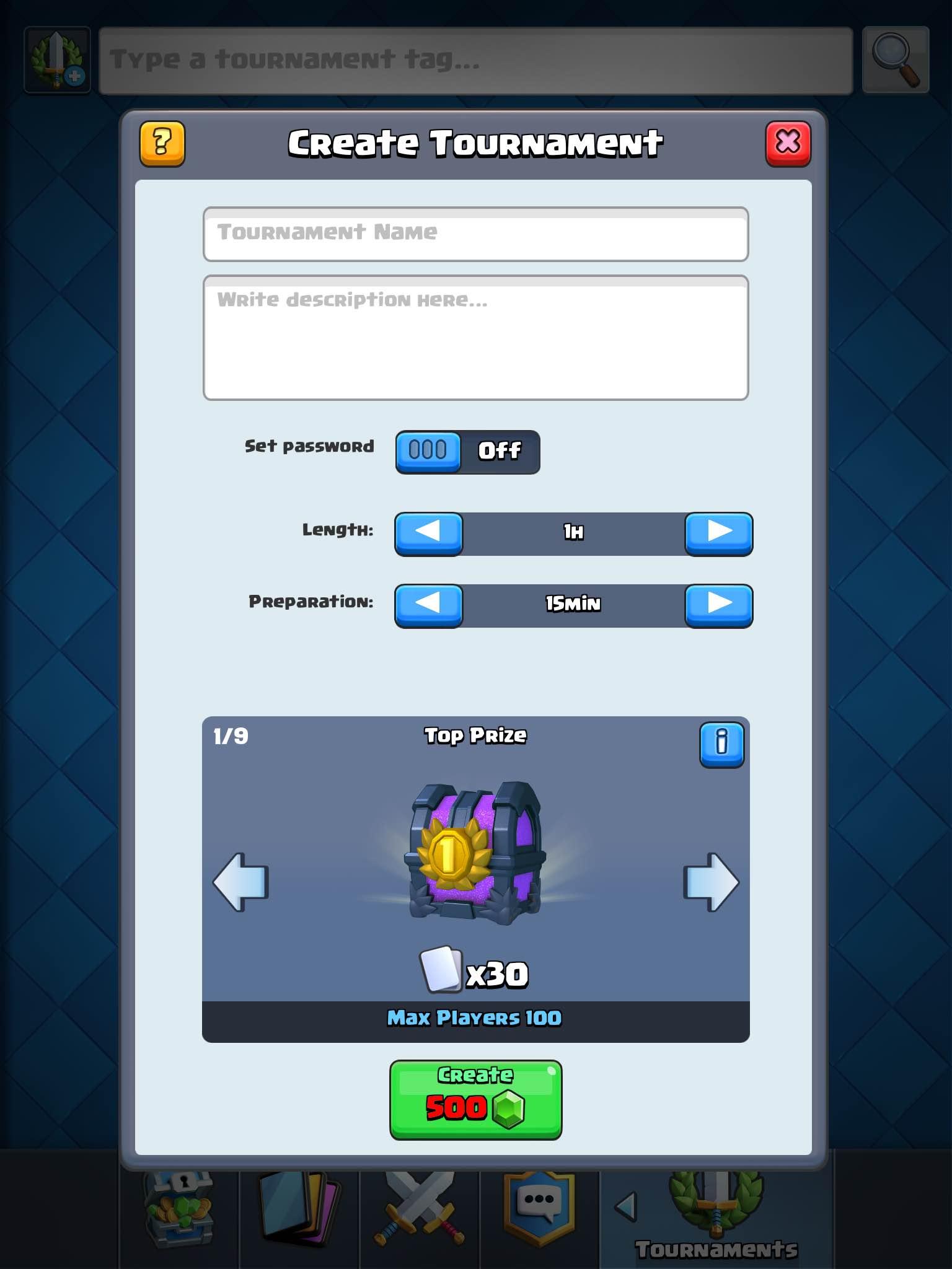 Clash Royale: Tournament Mode v1. Broken