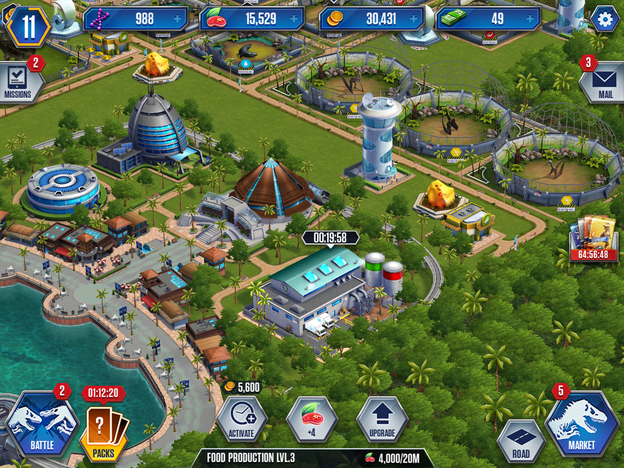 Jurassic world the game tips hints and strategies for Production builder