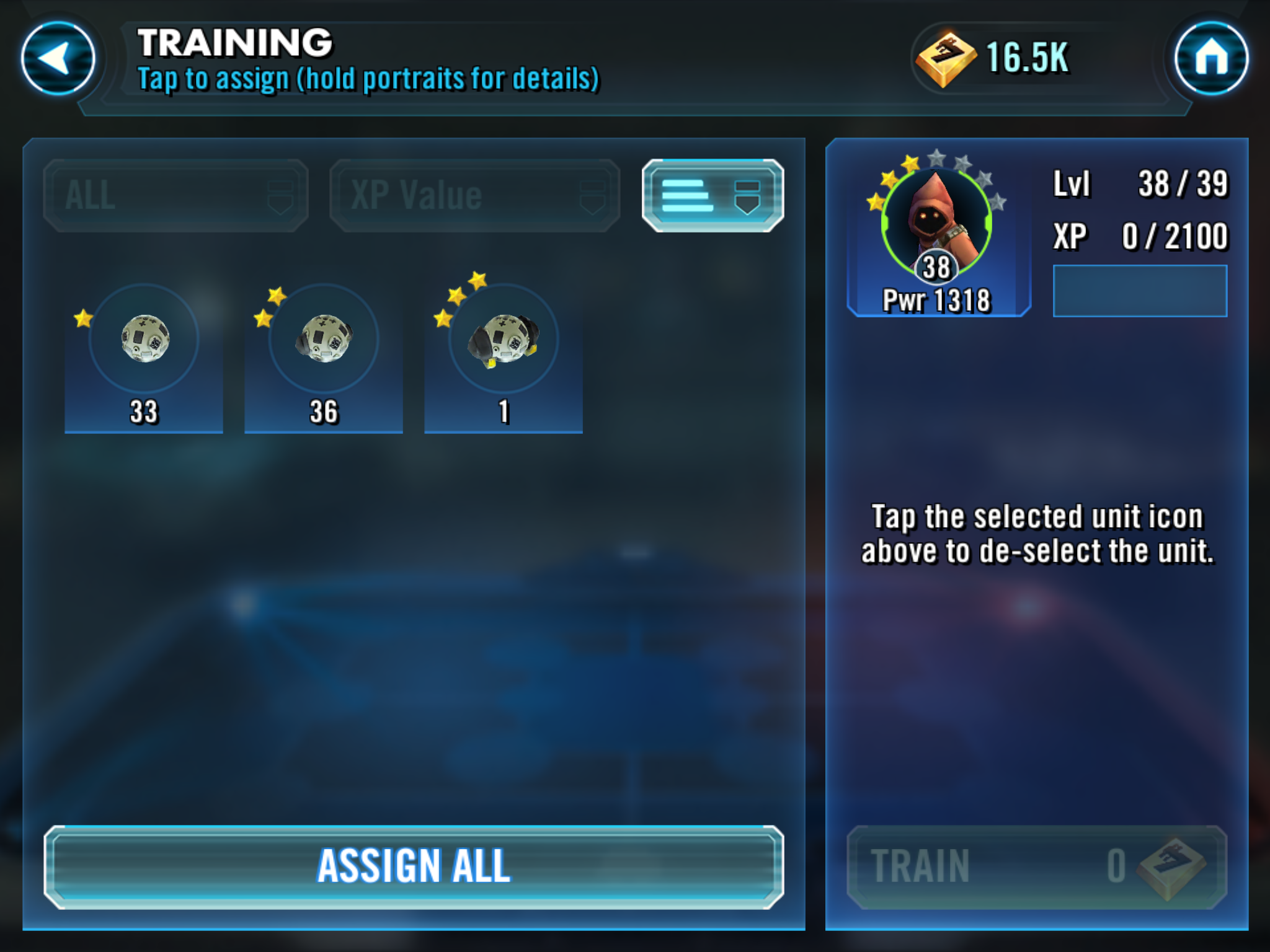 How To Level Up Characters In Star Wars: Galaxy Of Heroes
