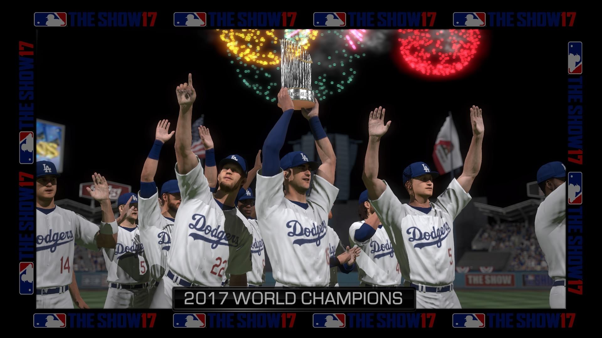 7f22fecdf MLB The Show 17 playoffs sim World Series Champion Los Angeles Dodgers